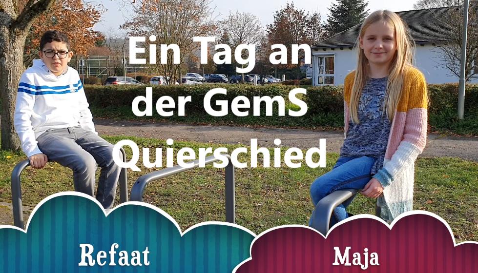 Maja und Refaat haben für euch ein Video gedreht, das euch einen Tag an unserer Schule zeigt.